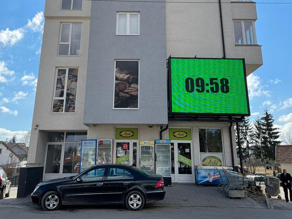 Iznajmite LED bilbord u centru Sjenice